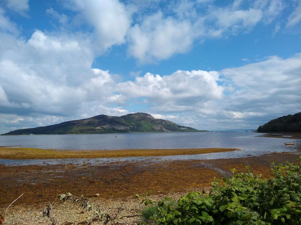 View of the Holy Isle from Lamlash Bay, Isle of Arran